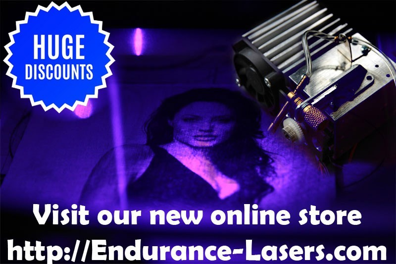 Visit our new online store - Endurance-Lasers.com
