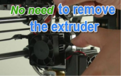 no need to remove the extruder