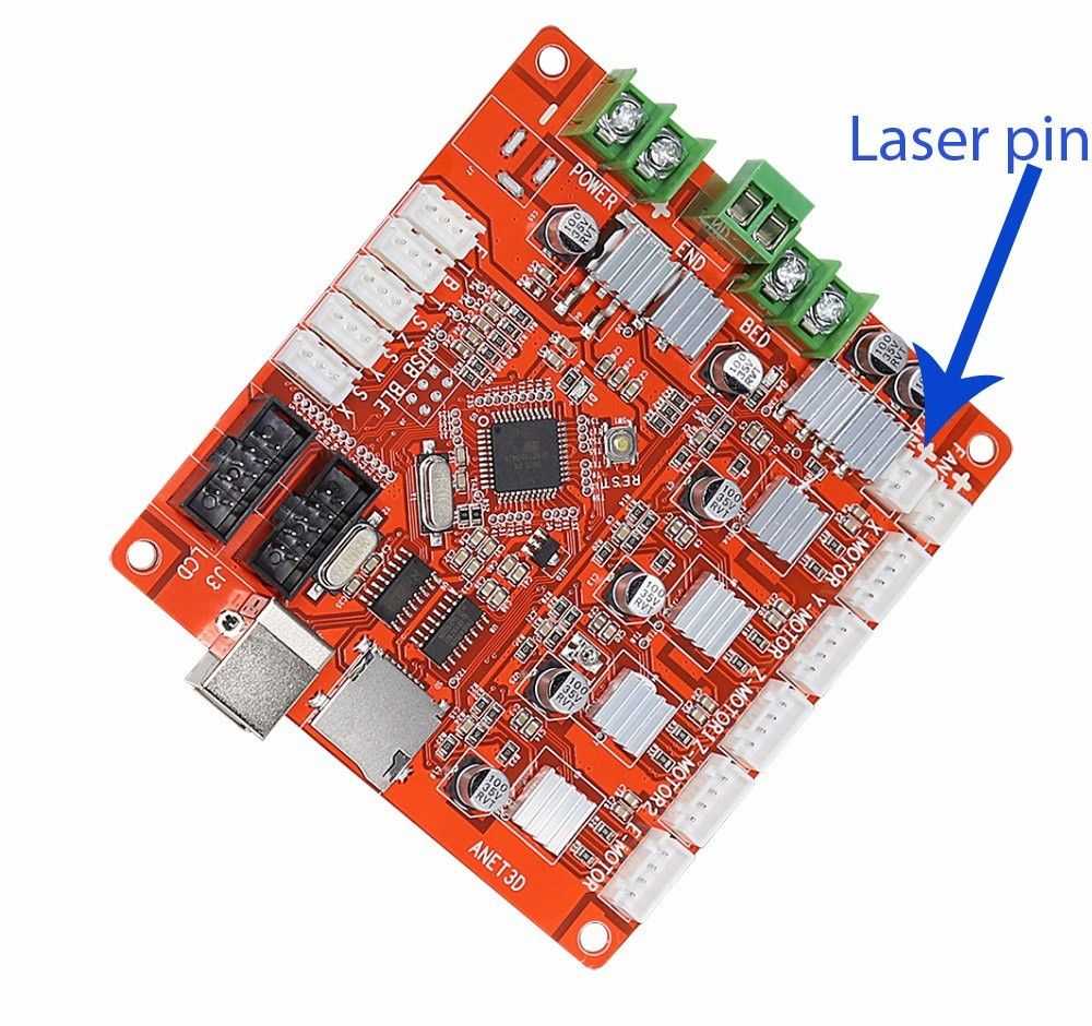 Wiring Endurance lasers to TOP por boards - EnduranceLasers on