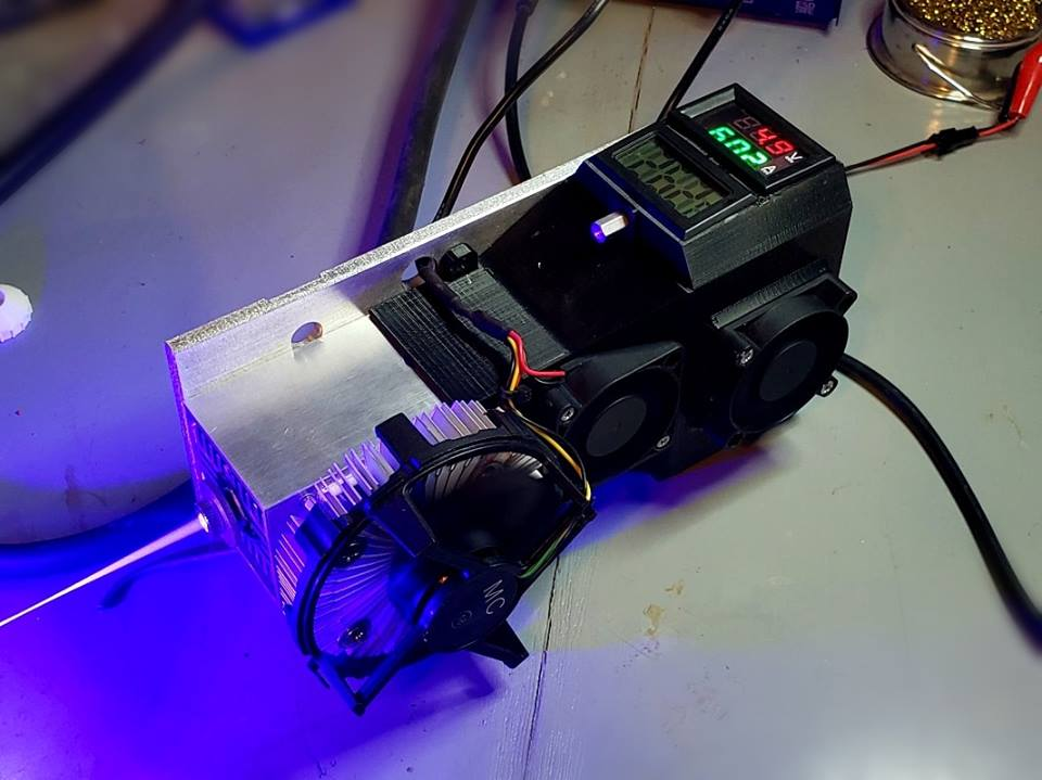 An upgrade on an Endurance 10 watt+ laser (made by Connor Bredin)