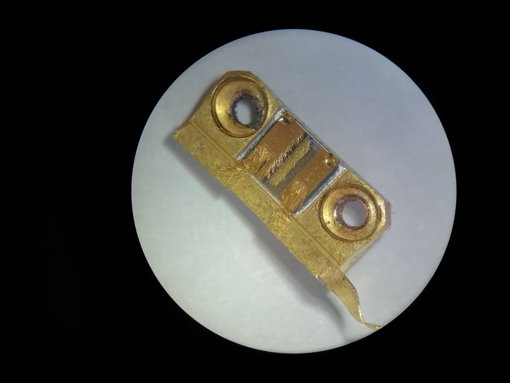 Laser diode under 20X optical zoom