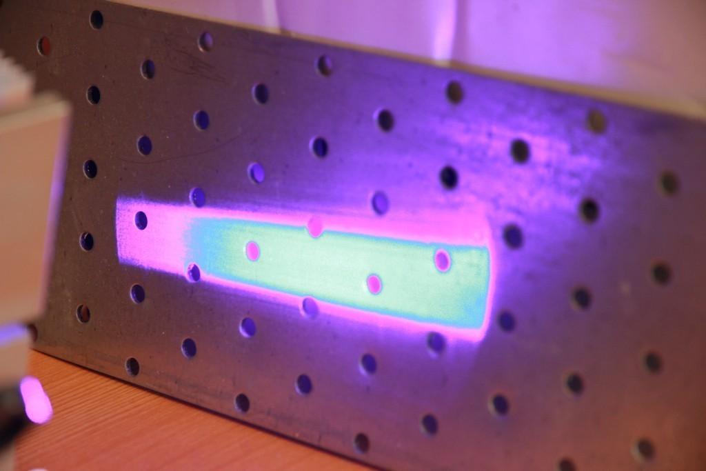 Laser beam parameters for NICHIA NUBM44 / NUBM47 laser diodes
