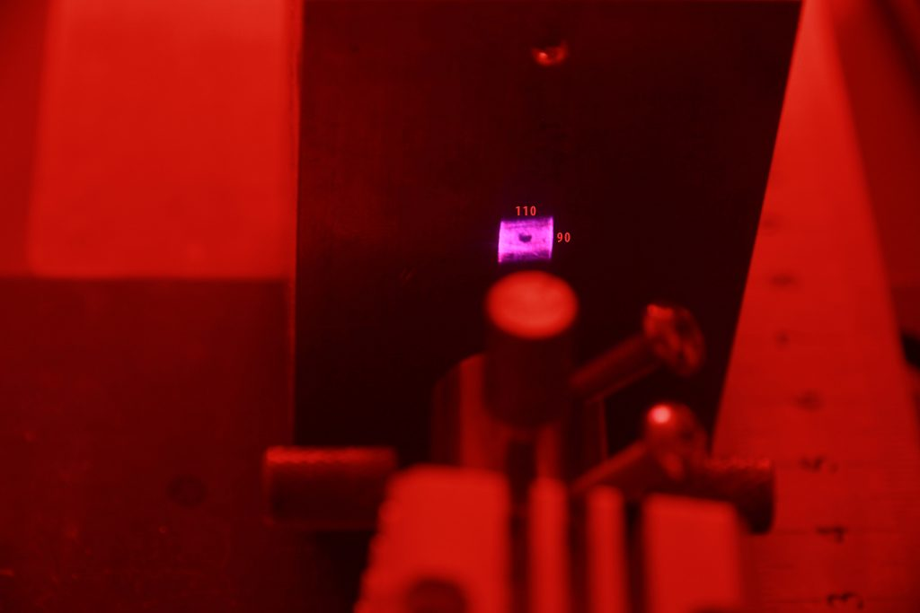 Laser beam spot improvement for 445 nm diode laser (success - new laser beam spot)