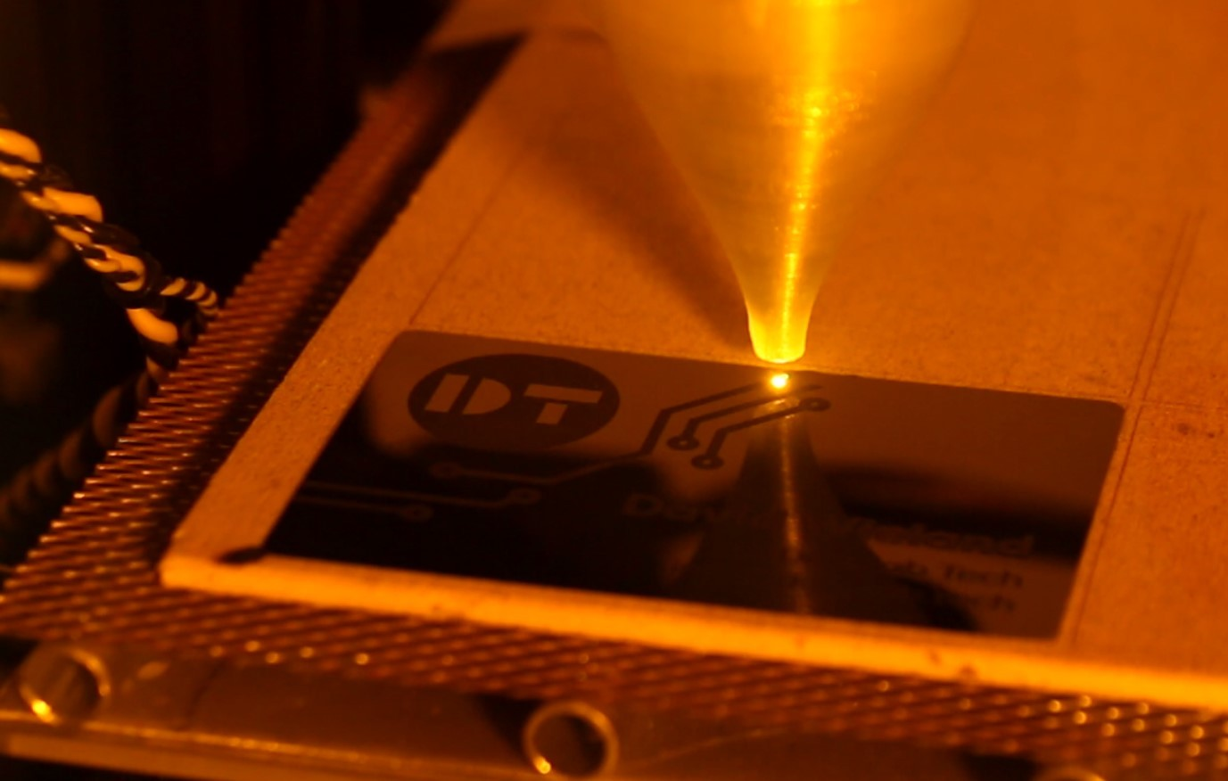 Making Metal Business Cards with 10W Laser
