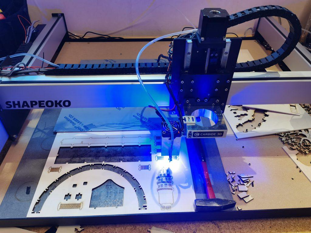 Getting started with an Endurance 10 watt laser and Shapeoko XXL 3 CNC machine