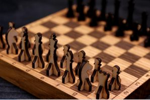 Laser Cuting Chess Pieces from 4 mm (1/6'') Plywood