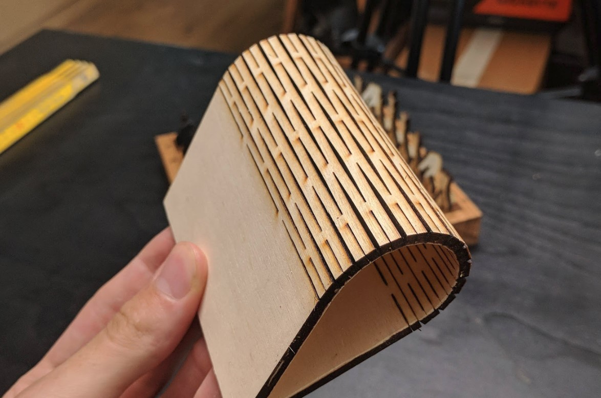 Making Flexible Plywood using a Laser