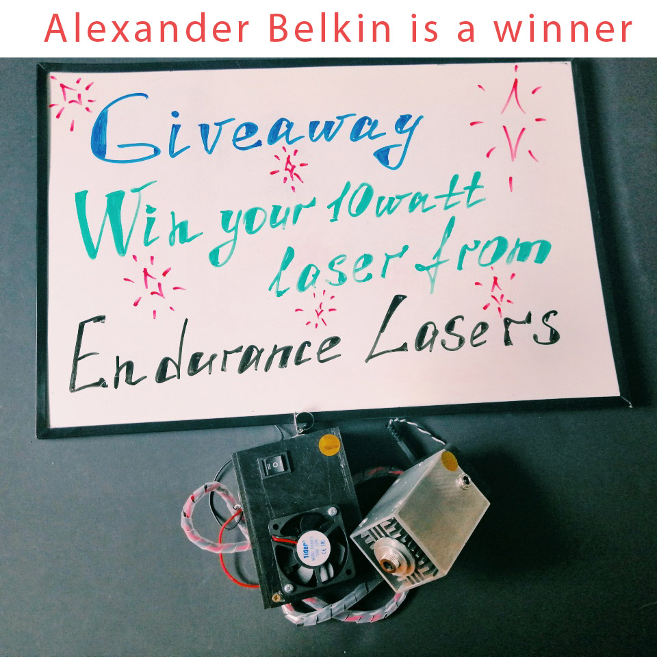 An Endurance 11-th giveaway finished! Alexander Belkin is a winner.