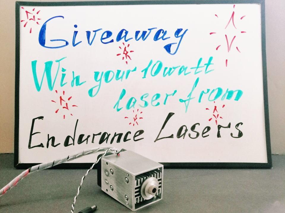 An Endurance 11-th giveaway (Ends on 27-th of November 2019). Win 10 watt laser module