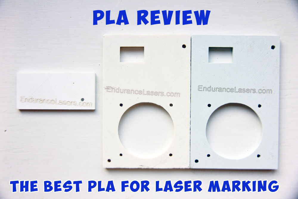 Infrared laser marking on a PLA. 3 different plastics review.