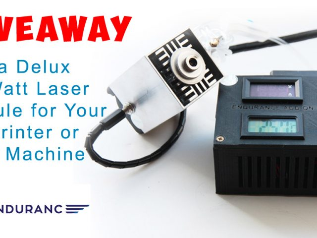 "An Endurance 12-th giveaway! A brand new laser head: 10 watt laser ""DeLux"""
