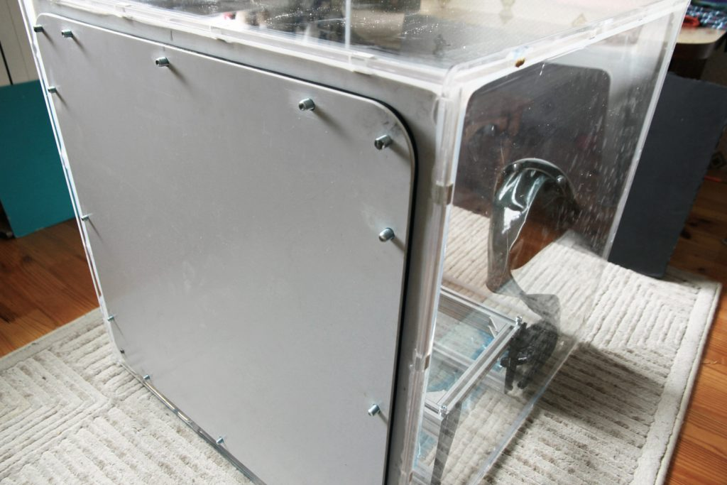 An Endurance airtight camera (sealed chamber) for laser cutting-engraving and other experiments.