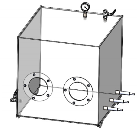 An Endurance airtight box (sealed chamber) for laser cutting-engraving and other experiments.