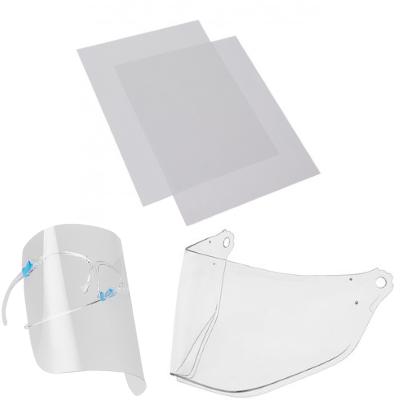 Making a DIY Protective Face shield. How to cut 0.3 mm (0.012'') PET plastics (transparent)