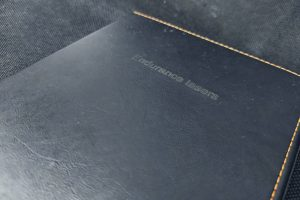 Engraving on synthectic leather