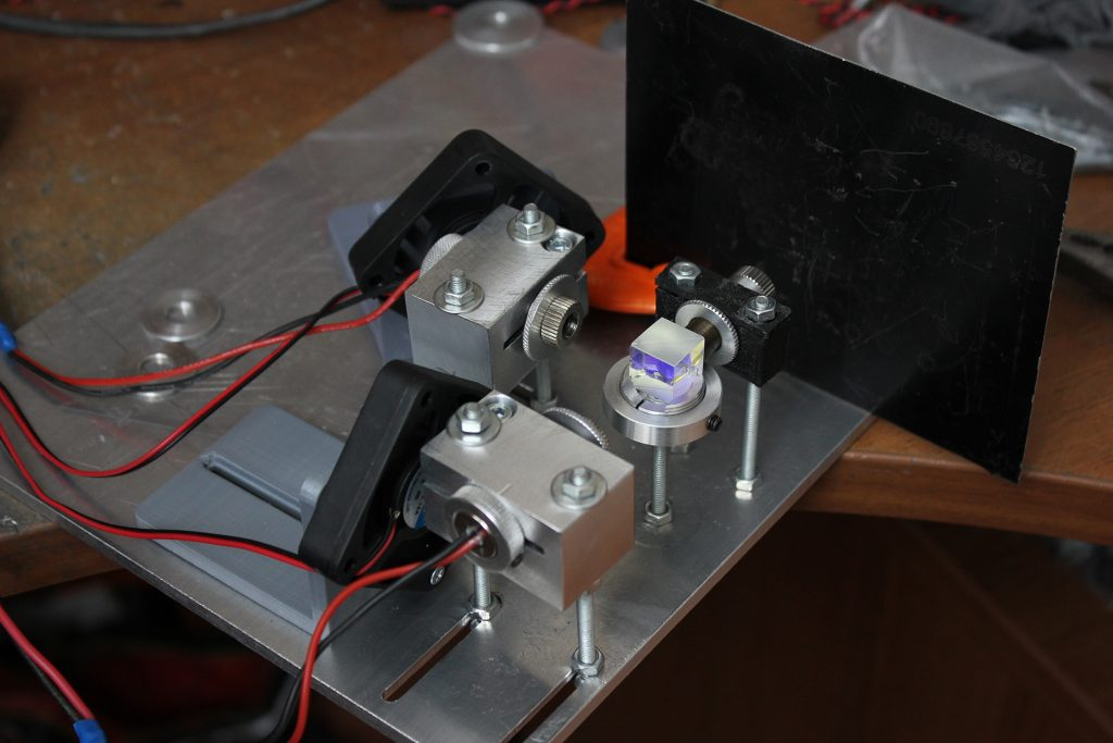 Dual laser system. 15 watt (15 000 mW) of an optical laser power