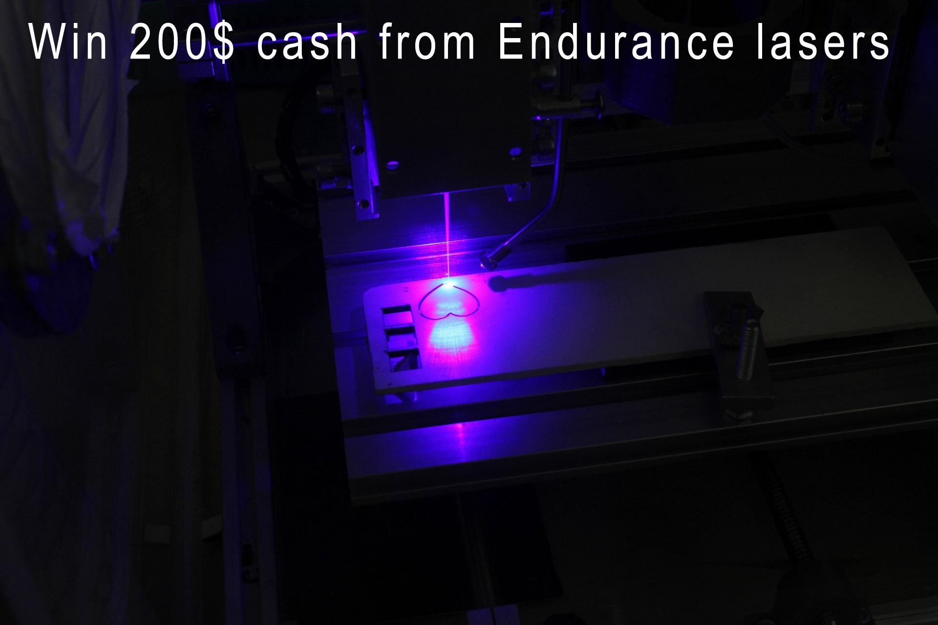 Endurance first 200$ cash giveaway.