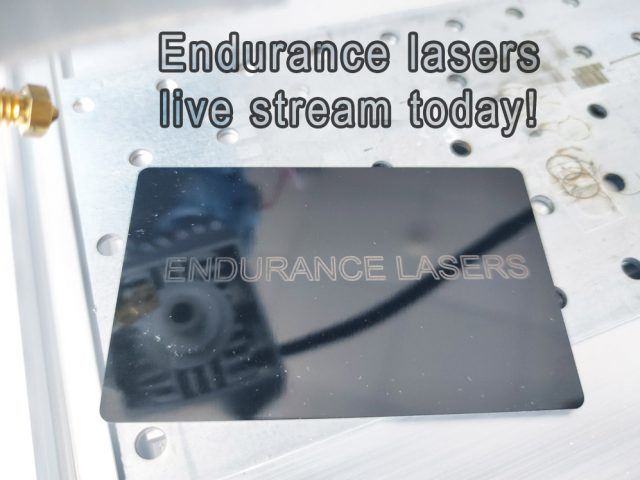 Online live stream today (18-th of October) on Endurance lasers Facebook group.