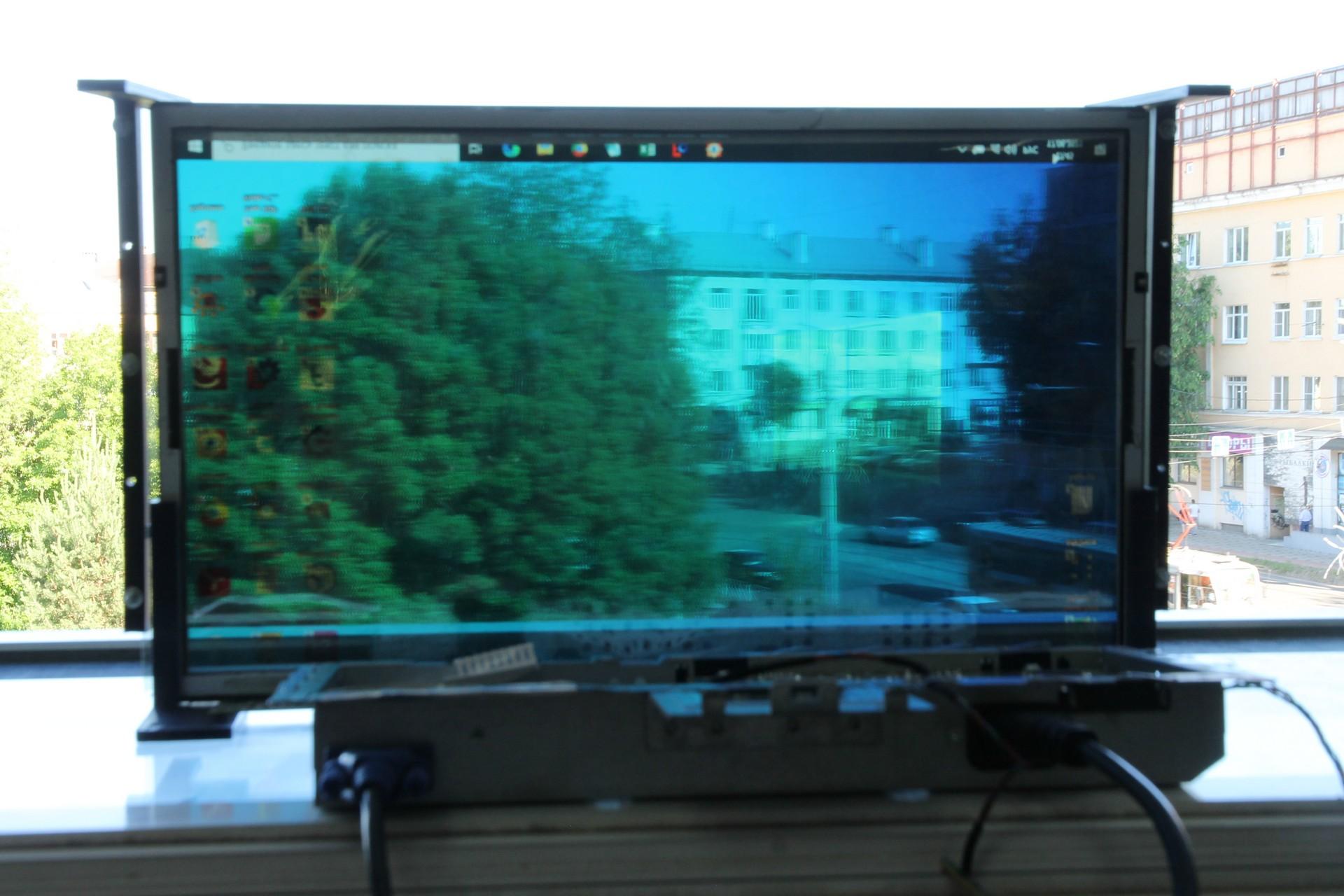 Semitransparent LCD TFT screen