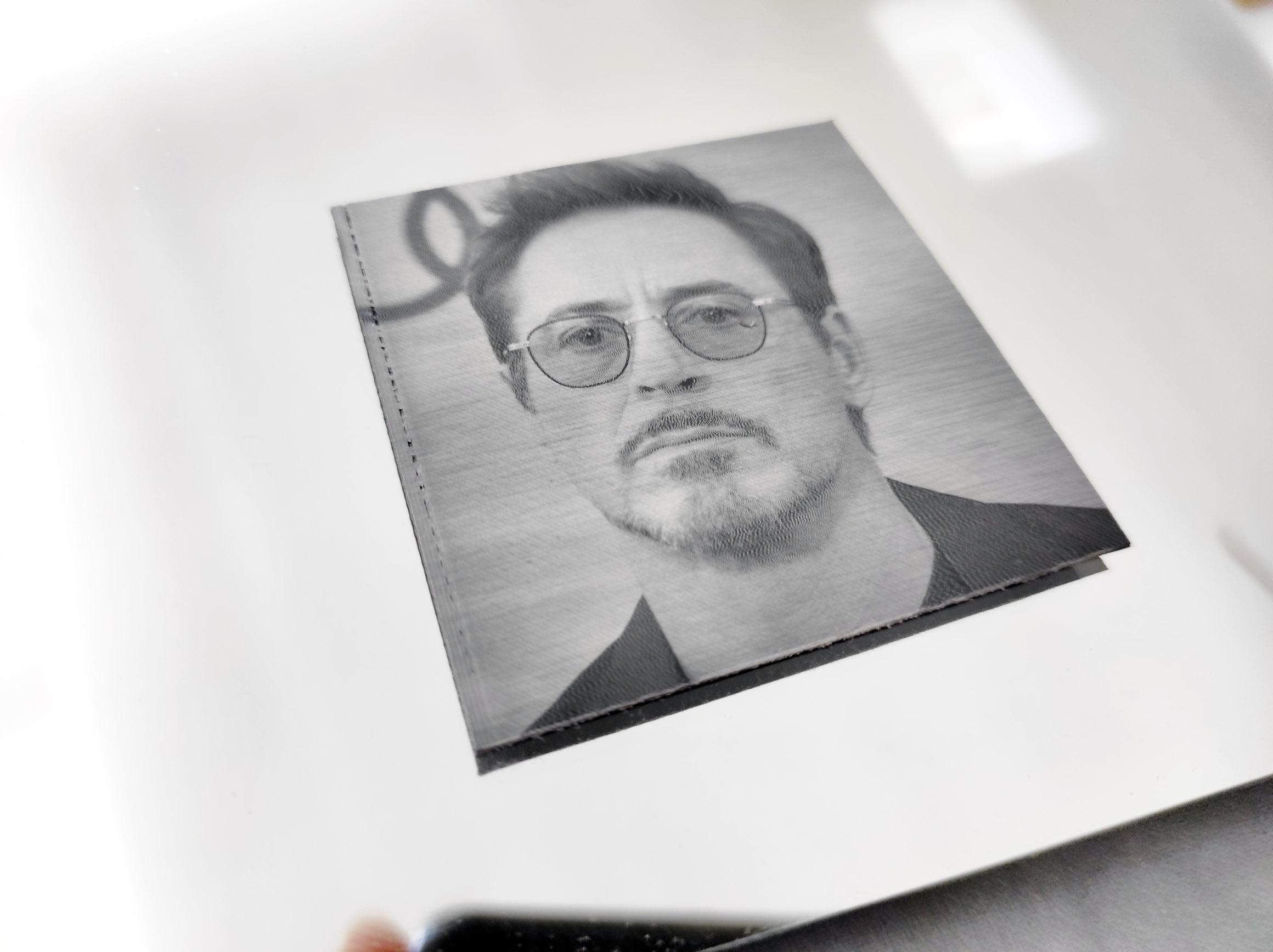 Robert Downey Jr - laser photoengraving