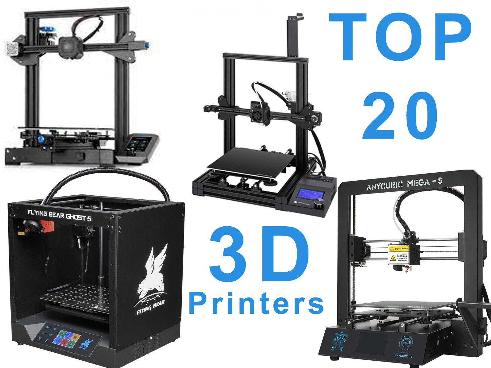 TOP 20 3D printers