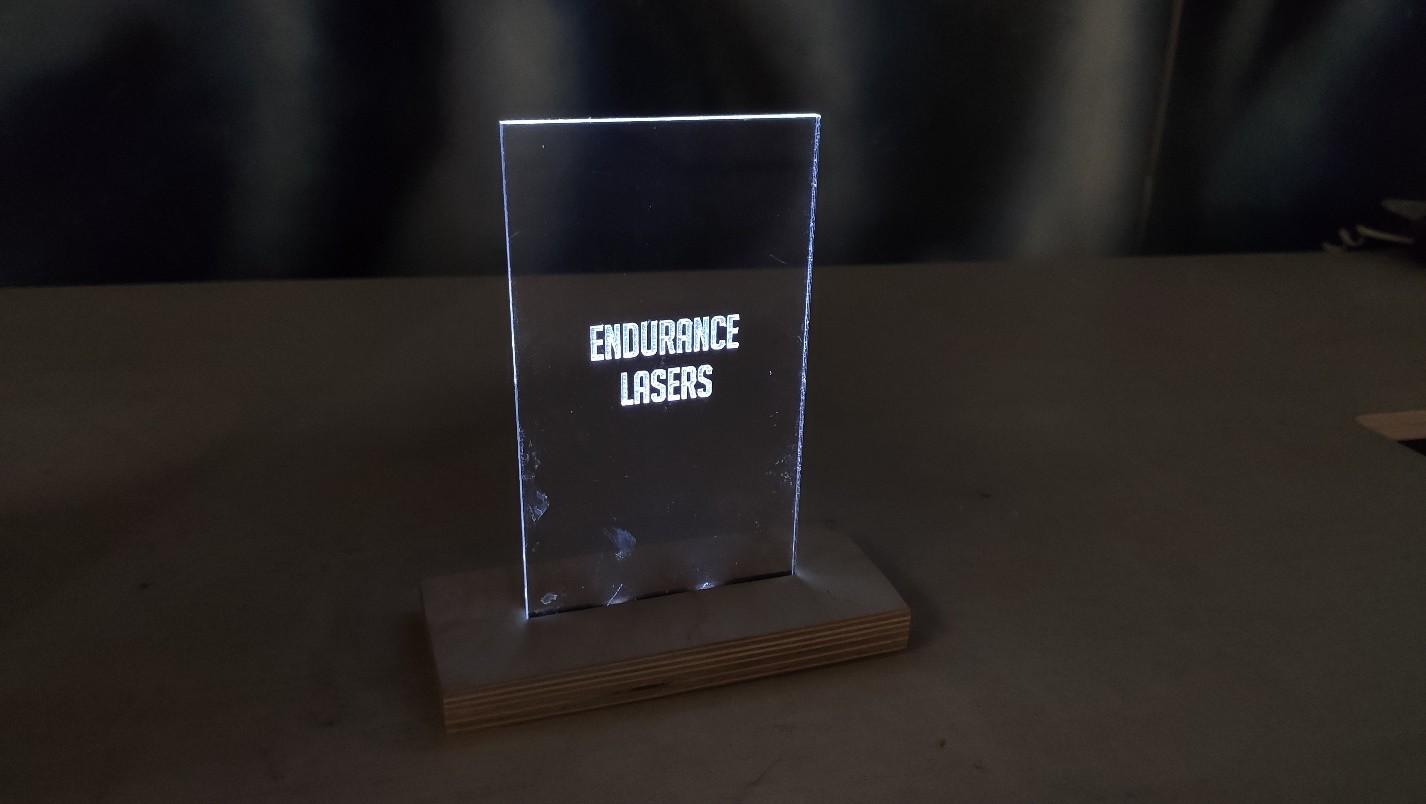 Endurance lasers acrylic